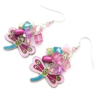 Dragonfly Charm Earrings by fairy-cakes