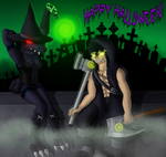 The Witch And Her Warrior, Happy Halloween! by shadow-recon-666