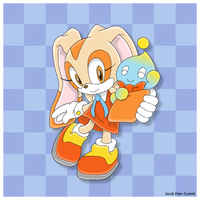 Cream the Rabbit and Cheese - colored by JacobMainland