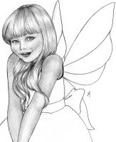 Sophie Fairy BW by Synferi