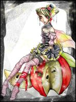 .. apple fairy .. by karincoma