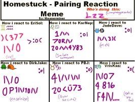 Homestuck pairing reaction meme by Cilangrassgymleader