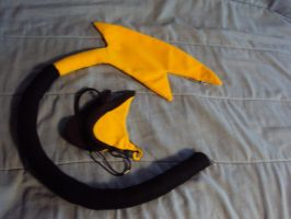 Raichu Cosplay Tail n Ears by mysteriousmage