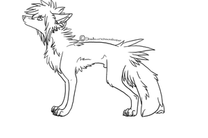 .:Scene Dog Lineart:2011:. by ShadownChaosforevr