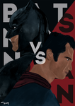Batman v Superman: Dawn of Justice Poster by anadoring