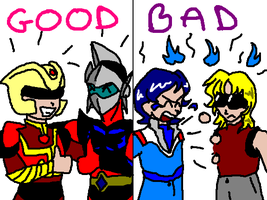 Good robot shows vs. bad by tgchrissy