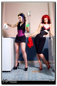 Laundry Day -Delicious Corsets by xposedotnet