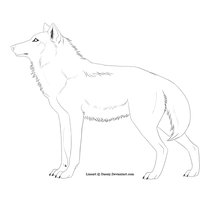 Free Wolf Lineart by Daesiy
