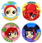 Original Characters - Pin Set 1 by zombielily