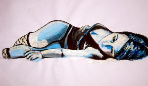 girl lying down by poemtothedead