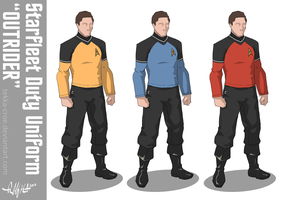 Starfleet 'Outrider' Duty Uniform by Tekka-Croe