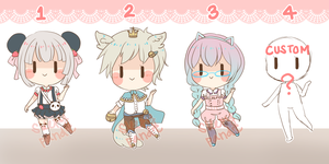 07: $4/400 points -  Cuties Adopt Set {CLOSED} by sleepypandie