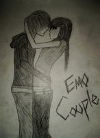 super cute emo couple by PimpinEmo