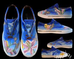 Floral Shoes by caseycreates