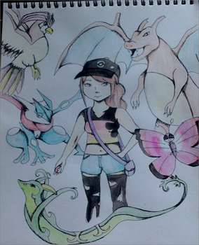 Art trade Pokemon oc by nerdylittleminds