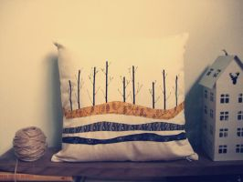 into the wood home decor pillow by cutieexplosion