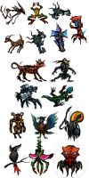 Creature Thumbnails by gibbz