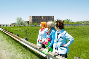 Digimon Adventure Tri. - Tai, Sora and Mimi (3) by Parastorm