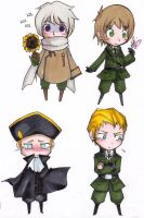 APH chibis by LazyBasy