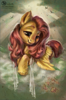 Fluttershy- Old portrait by Obpony