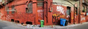 Alley Panorama by moonaniteone