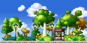 MapleStory Custom BG - Forest Road by Akarituturu