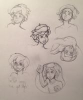 Male Ariel Sketches by StarryNight359