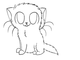 Kitty Lineart by Dawn7252000
