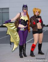 BombShell Batgirl and Harley Quinn by ElectricVISUALS