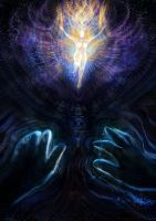 Angel in the void by LouisDyer
