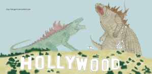 Godzilla Hollywood by Guy-Inkognito