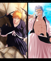 Ichigo Vs Grimmjow Commission by Tremblax