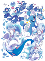 Popplio Evolution Pile