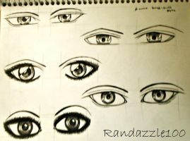 Male and female manga eyes by Randazzle100