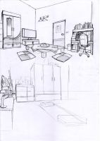 Room Sketches  practice by ErMaoWu