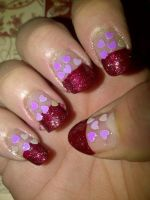 Valentine's day themed nails by pierrettepaola