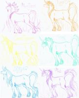 COLORFUL UNICORNS 2.0 by Bandach