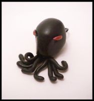 Angry Octopendant by KimsButterflyGarden