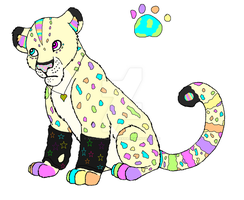 Easter Themed Snow leopard by xXxCorpseAdoptsxXx