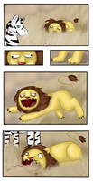 Ugly lion attacks by Queenga