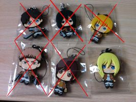 SOLD OUT!! ATTACK ON TITAN Keychains NO FAKES by xXBeatoUshiromiyaXx