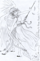 Masked Winged Archer by dyingmoonshine