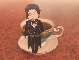 I have some tea for you, young master. by likos