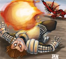 Rathalos fire ball by AMBONE105