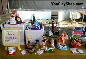 My Handmade Clay Stall at Winter Convention 2015 by yonkairu