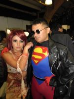 Superboy and Zombie Girl by eriksuperboy