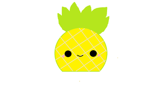 Kawaii Pineapple by KawaiiBow100