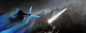Jedi VS Jedi Rock Giant by SeanDonaldson