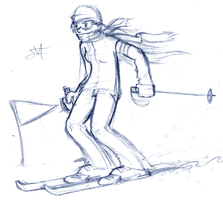 skier by ransomarceihn