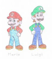 Super Mario Bros - Mario and Luigi by TheAwesomeWorld
